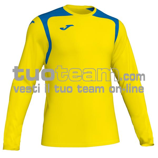 101375 - CHAMPIONSHIP V MAGLIA ML 100% polyester interlock - 907 GIALLO / ROYAL