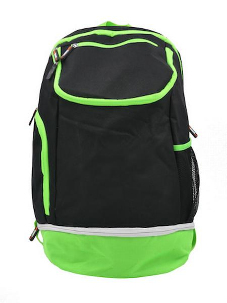 780087 - Zainetto Backpack 24 - NERO / VERDE FLUO
