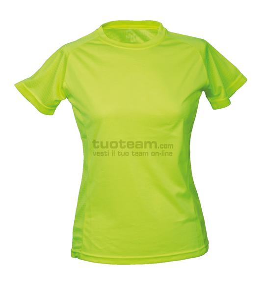 99381 - T-Shirt Montevideo Lady - GIALLO FLUO
