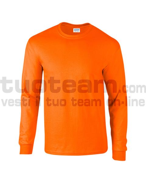 GL2400 - Ultra Cotton Maglia G/C-M/L 100% Cot. 205 gr/m2 - Safety Orange