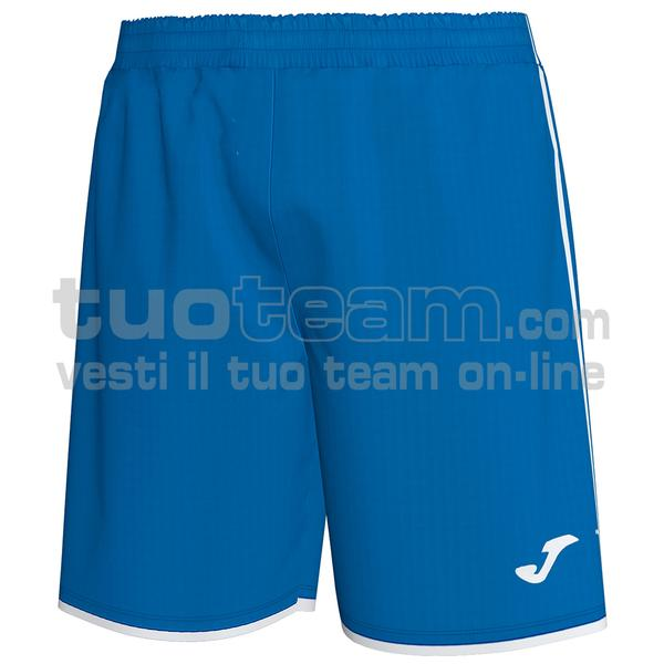 101324 - LIGA SHORT 100% polyester interlock - 702 ROYAL / BIANCO