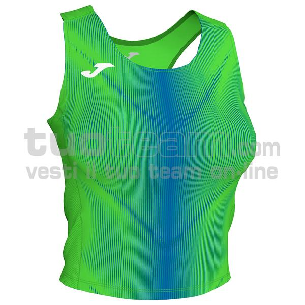 900935 - OLIMPIA WOMAN TOP 95% polyester 5% elastane - 027 VERDE FLUO/ROYAL