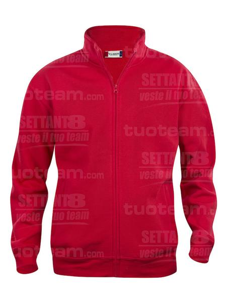 021028 - FELPA Basic Cardigan Junior - 35 rosso