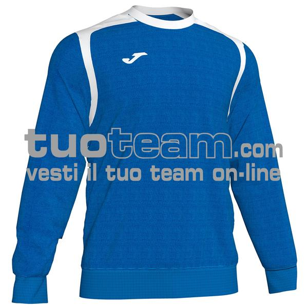 101266 - FELPA CHAMPION V girocollo 100% polyester fleece - 702 ROYAL / BIANCO