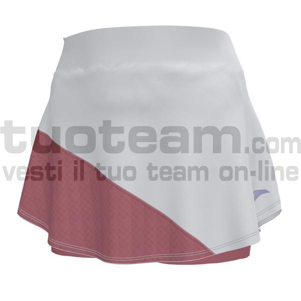 900978 - MISIEGO SKIRT 84% polyester 16% spandex - 205 BIANCO / ROSSO