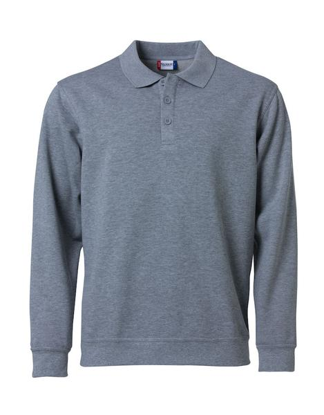 021032 - Basic Polo Sweater - 95 grigio melange