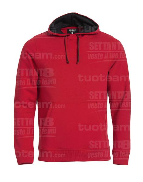 021041 - FELPA Classic Hoody - 35 rosso