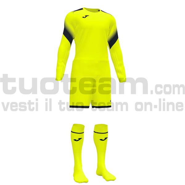 101477 - ZAMORA V SET MAGLIA ML+SHORT+CALZ. 100% polyester interlock - 060 GIALLO FLUOR