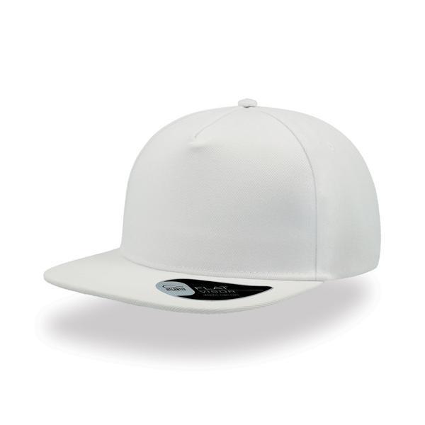 ATSNFI - Cappellino SNAP FIVE a 5 pannelli con visiera piatta - BIANCO