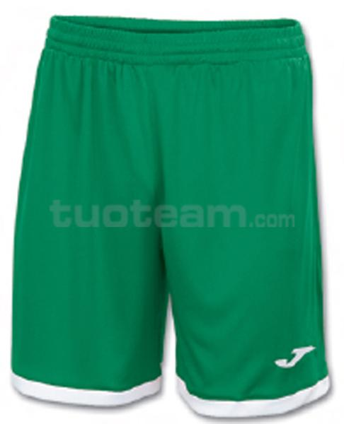 100006 - TOLEDO SHORT 100% polyester interlock - 450 VERDE/BIANCO