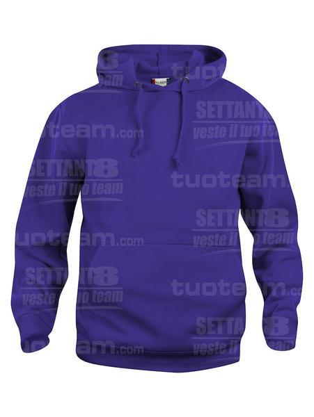 021031 - FELPA Basic Hoody - 44 lilla