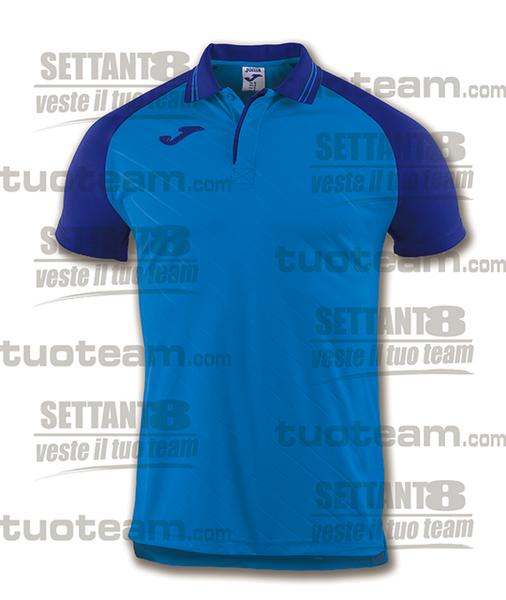 100639 - TORNEO II POLO MC 100% polyester interlock - BLU ROYAL/BLU SCURO