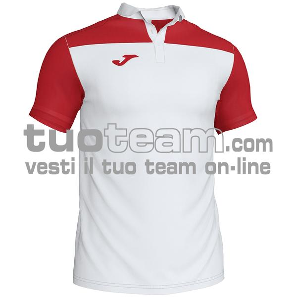 101371 - POLO HOBBY II 96% polyester 6% cotone - 206 BIANCO / ROSSO