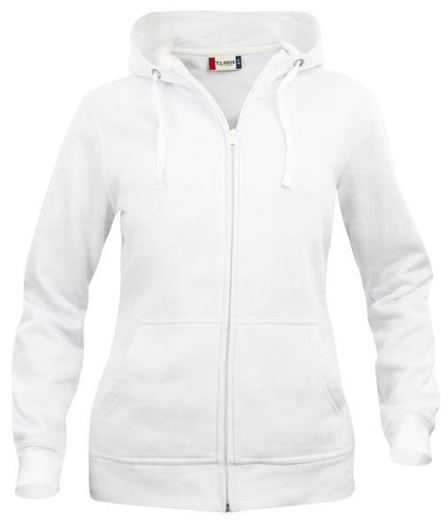 021035 - FELPA Basic Hoody Full zip Lady - 00 bianco