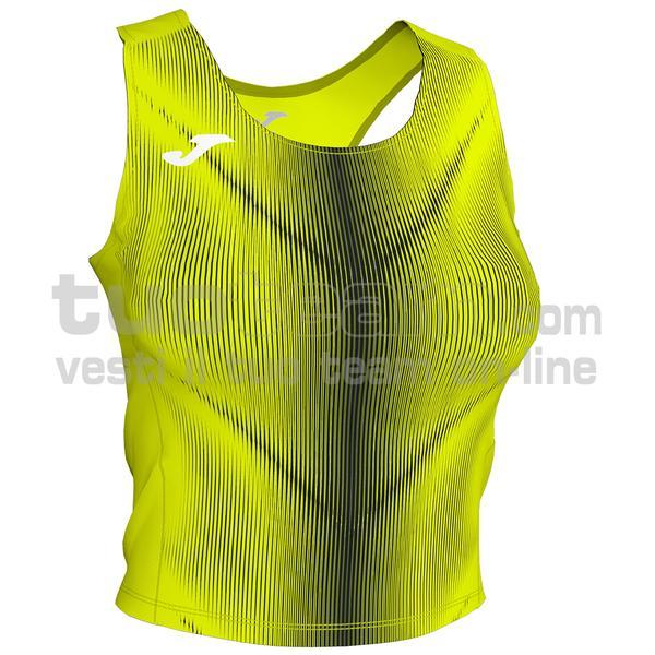 900935 - OLIMPIA WOMAN TOP 95% polyester 5% elastane - 061 GIALLO FLUO/NERO