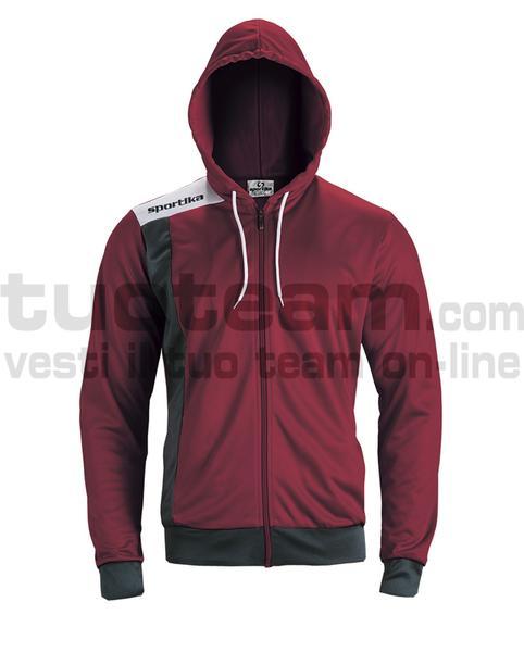 7624 - GIRONA giacca - BORDEAUX / NERO / BIANCO