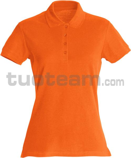 028231 - polo basic lady - 18 arancione