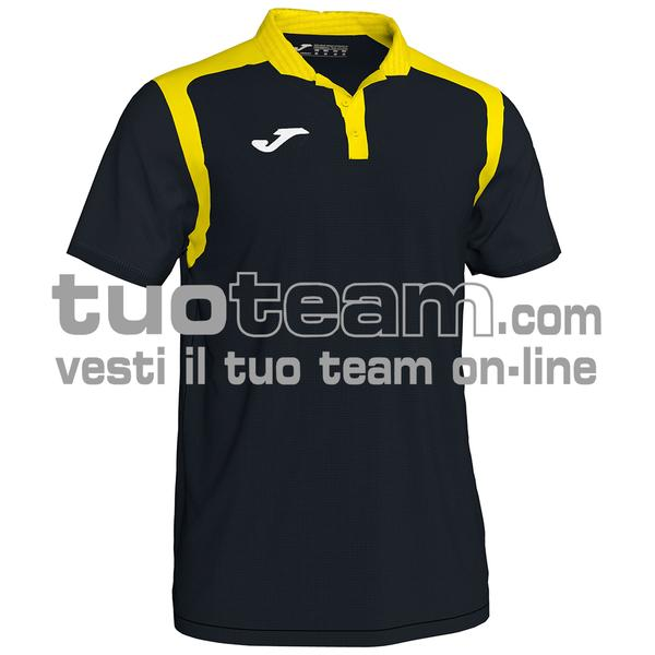 101265 - CHAMPIONSHIP V POLO 100% polyester interlock - 109 NERO / GIALLO