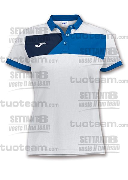 900387 - POLO CREW II DONNA - 207 BIANCO/BLU ROYAL/BLU NAVY