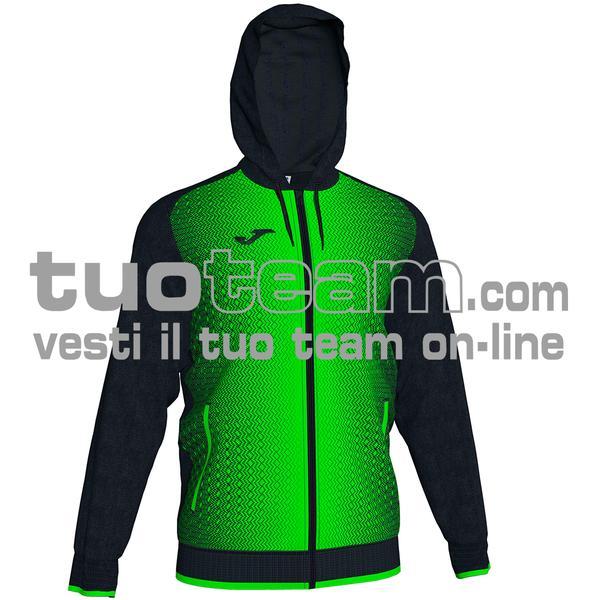101285 - FELPA FULL ZIP 100% polyester tricot - 117 NERO / VERDE