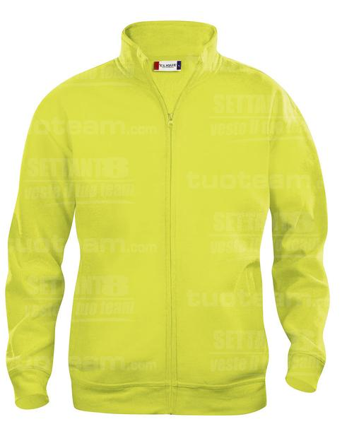 021028 - FELPA Basic Cardigan Junior - 11 giallo HV