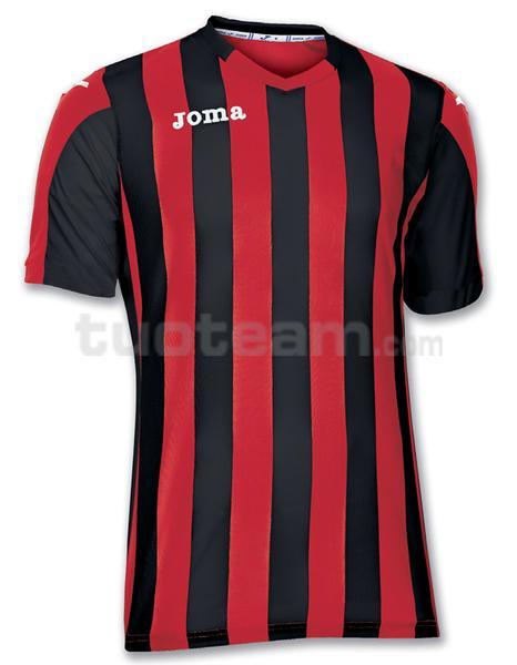 100001 - COPA MAGLIA MC 100% polyester tinto filo - 601 ROSSO/NERO