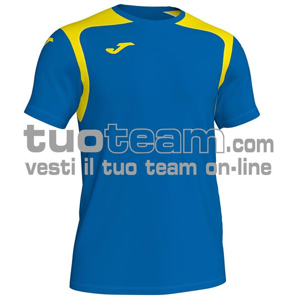 101264 - CHAMPIONSHIP V MAGLIA MC 100% polyester interlock - 709 ROYAL / GIALLO