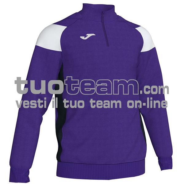 101272 - FELPA 1/2 ZIP 100% polyester fleece - 552 VIOLA / BIANCO