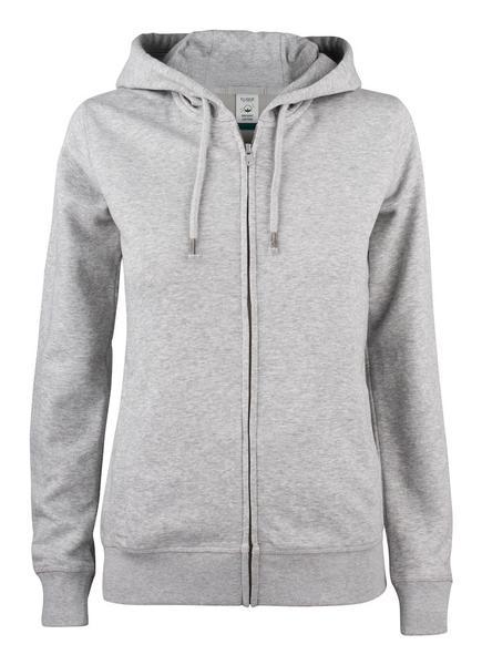 021005 - Premium O.C. Hoody Full Zip Lady - 95 grigio melange