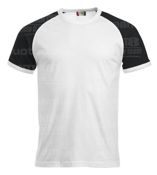 029326 - T-SHIRT Raglan-T - 0099 bianco/nero