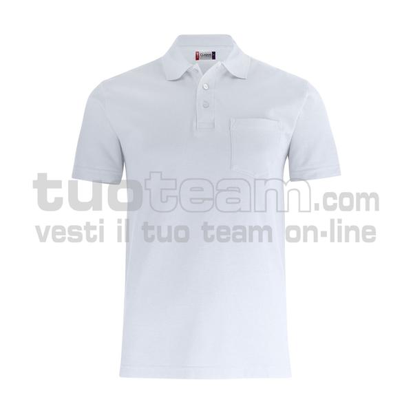 028255 - Basic Polo w. Pocket - 00 bianco