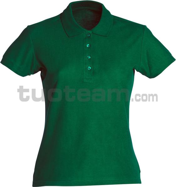 028231 - polo basic lady - 68 verde bottiglia