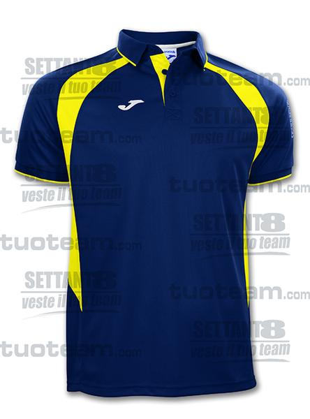 100018 - POLO M/C CHAMPION III - 309 BLU NAVY/GIALLO