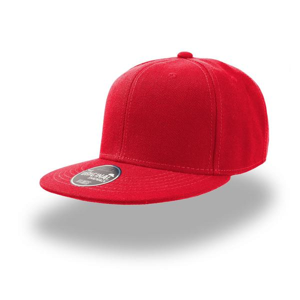 ATSNAP - CAPPELLINO Snap Back 6 pannelli - ROSSO