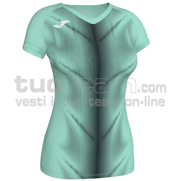 900933 - OLIMPIA WOMAN MAGLIA MC 95% polyester 5% elastane - 401 VERDE FLUOR / NERO