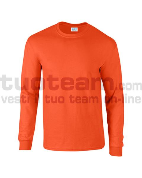 GL2400 - Ultra Cotton Maglia G/C-M/L 100% Cot. 205 gr/m2 - Osha Orange