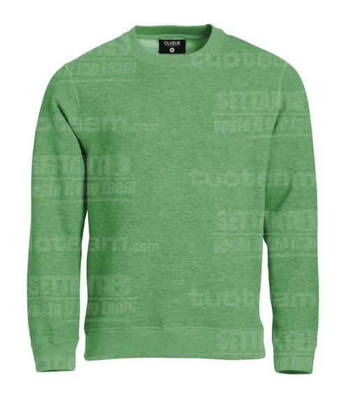 021040 - felpa girocollo Roundneck - 676 Verde Melange