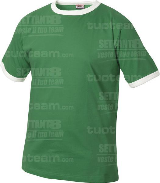 029304 - T-SHIRT Nome Kids - 6200 verde bandiera/bianco