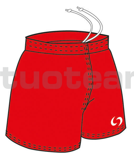 3023 - panta rugby MILTON - ROSSO