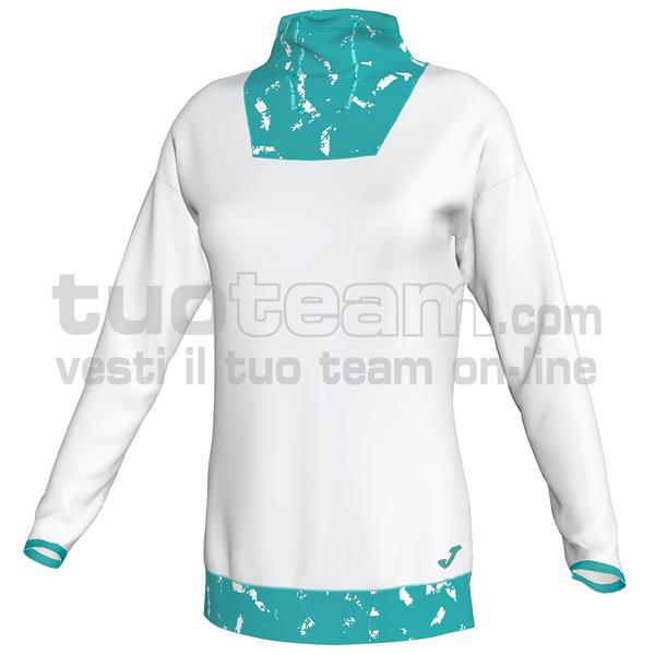 900866 - FELPA 90% polyester 10% elastan - 212 BIANCO/TURCHESE