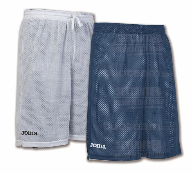 100529 - ROOKIE SHORT DOUBLE 100% polyester mesh - 300 BLU NAVY/BIANCO