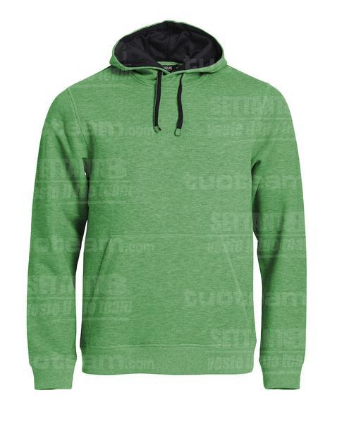 021041 - FELPA Classic Hoody - 676 Verde Melange