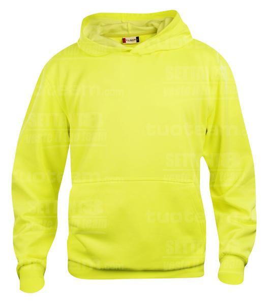 021021 - FELPA Basic Hoody Junior - 11 giallo HV