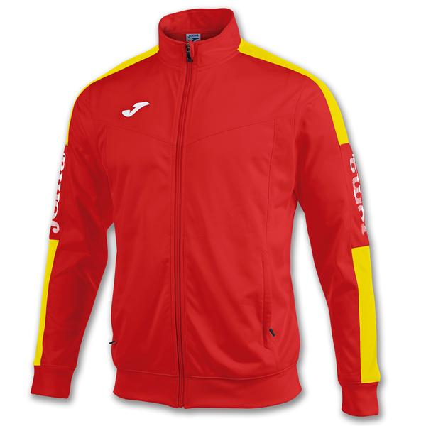 100687 - GIACCA CHAMPION IV ZIP LUNGA - ROSSO/GIALLO/BIANCO