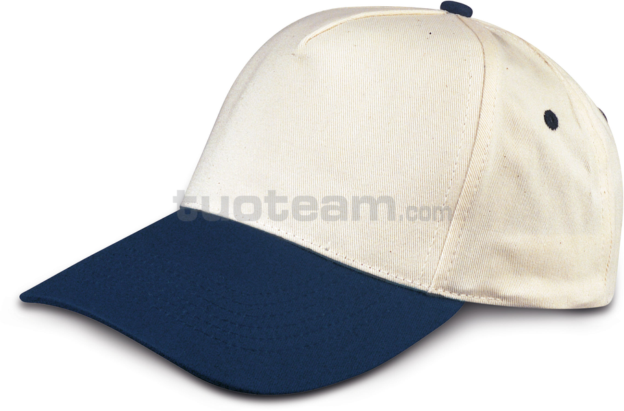 K18040 - CAPPELLINO GOLF 5 PANN. IN COTONE - Neutral/BluNavy