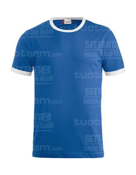 029314 - T-SHIRT Nome - 5500 blu/bianco