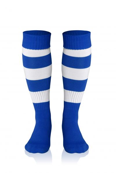 0022281 - CALZA DOUBLE STRIPED - ROYAL / BIANCO