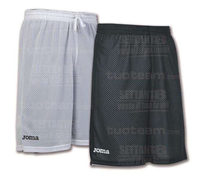 100529 - ROOKIE SHORT DOUBLE 100% polyester mesh - 100 NERO/BIANCO
