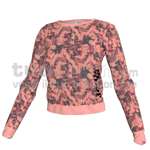 900896 - FELPA 90% polyester fleece 10% elastan - 540 ROSA/MELANGE