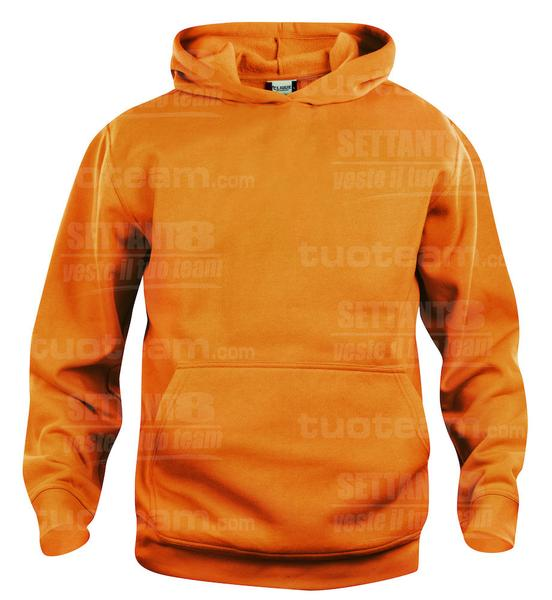 021021 - FELPA Basic Hoody Junior - 170 arancio HV
